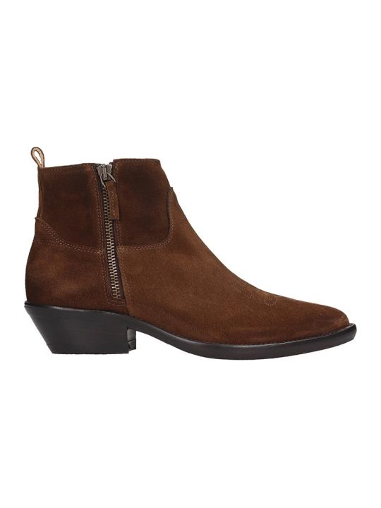 The Seller Ankle Boots In Leather Color Suede