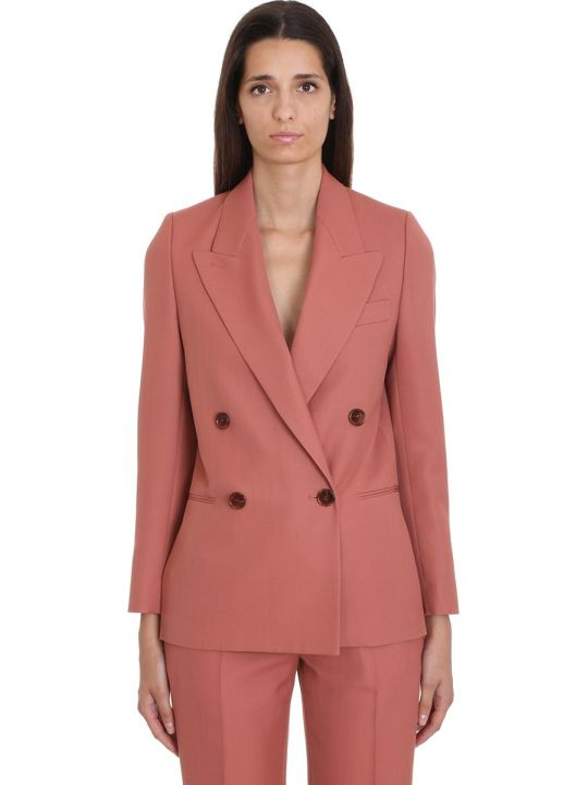 Acne Studios Jacket In Rose-pink Polyester