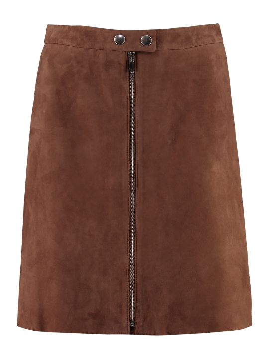 Weekend Max Mara Egadi Suede Mini Skirt