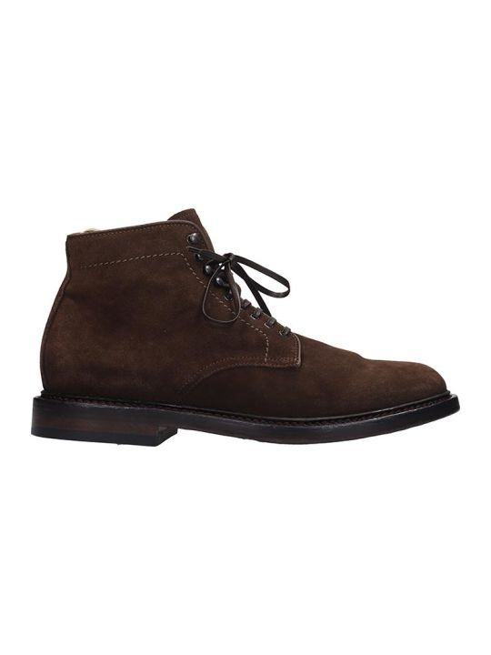 Officine Creative Stanford Ankle Boots In Brown Suede