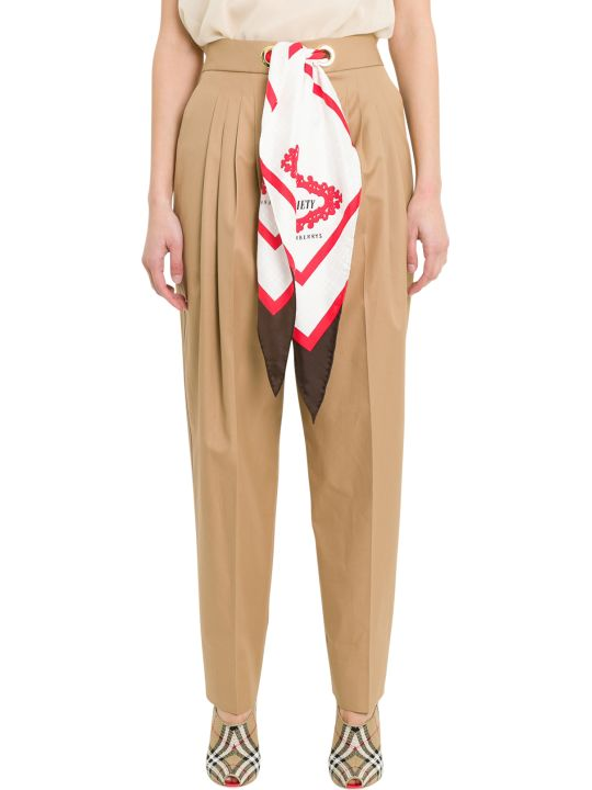 Burberry Scarf Detail Trousers