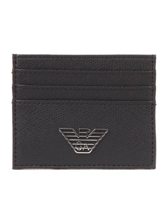 Emporio Armani Eagle Logo Plaque Credit Card Slots