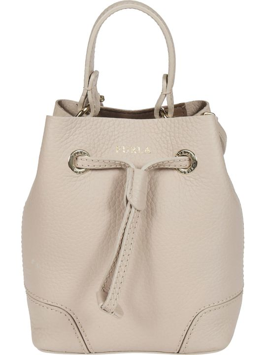 Furla Logo Print Bucket Bag