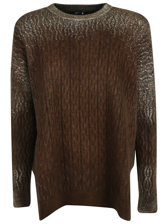 Avant Toi Glittery Long-sleeved Jumper