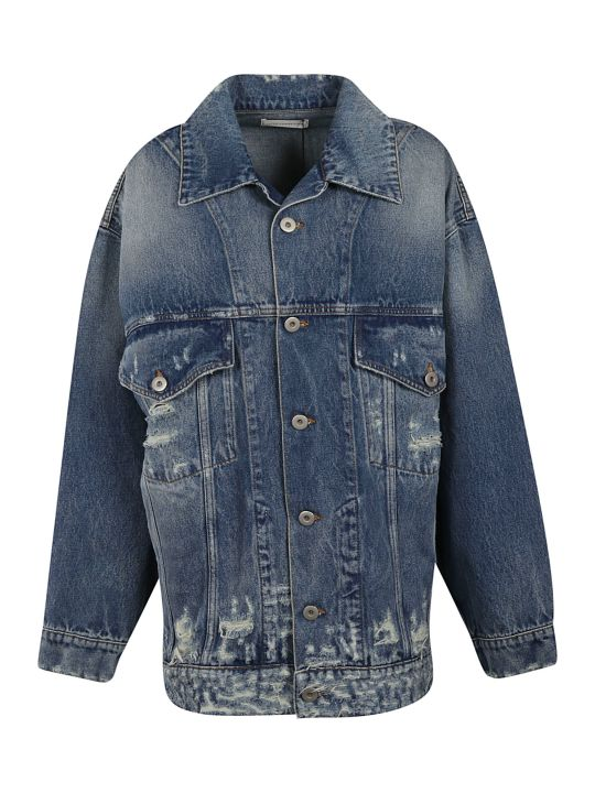 Faith Connexion Distressed Denim Jacket