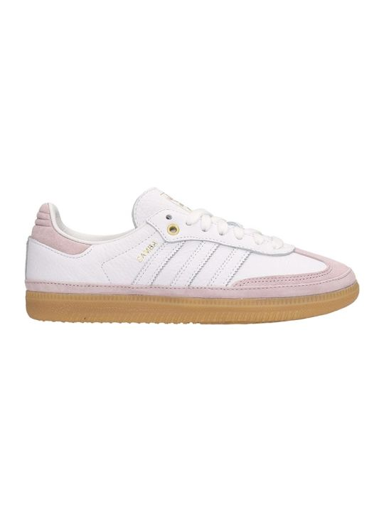 Adidas White Leather And Suede Sneakers Samba Og W Relay In Pink