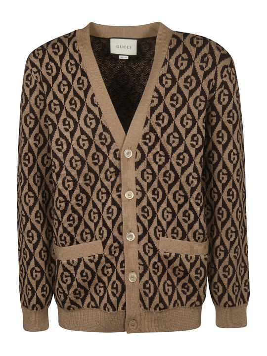 Gucci All Over Logo Cardigan