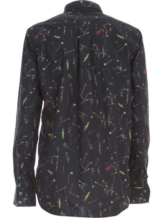 Paul Smith Shirt L/s Rounded Bottom Micro Fantasy