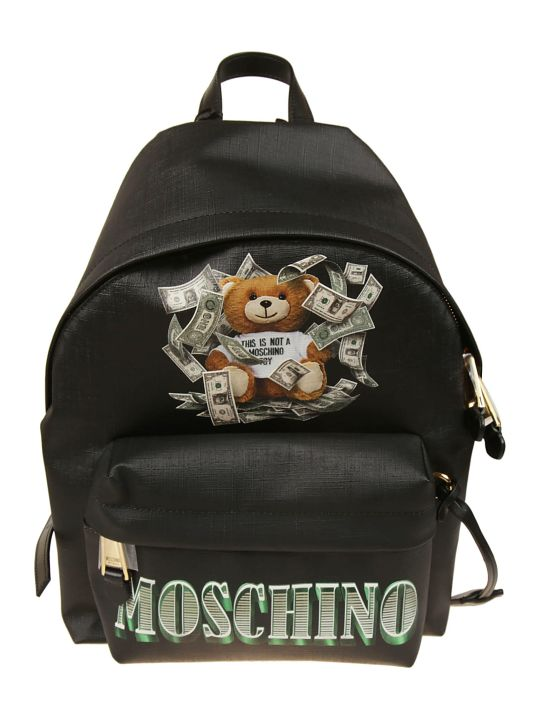 Moschino Logo Print Bear Backpack