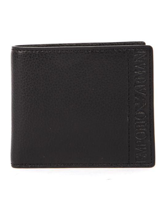 Emporio Armani Black Faux Leather Wallet