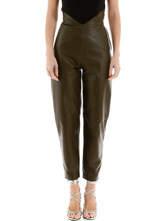 The Attico Butterfly Leather Pants