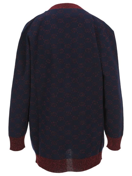 Gucci Jacquard Gg Knitted Cardigan
