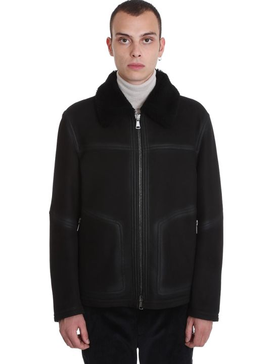 DROMe Coat In Black Leather