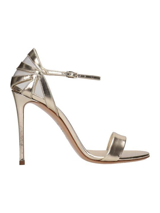 Casadei Platinum Leather Sandals