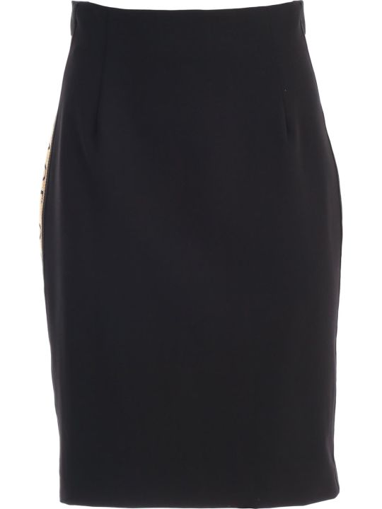 Versace Collection Skirt Pencil W/side Logo