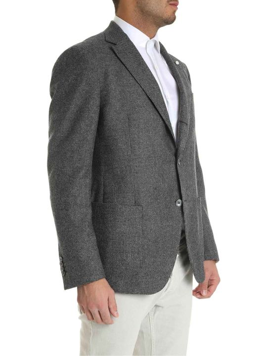 Luigi Bianchi Mantova Single Breasted Weaved Blazer