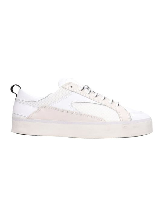 D.A.T.E. Leather And Mesh White Sneakers