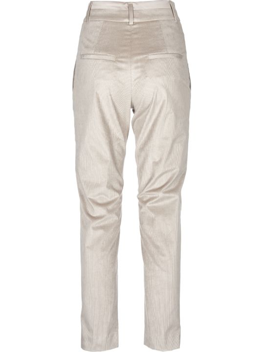 Peserico Pme Trousers In Dove Color Corduroy