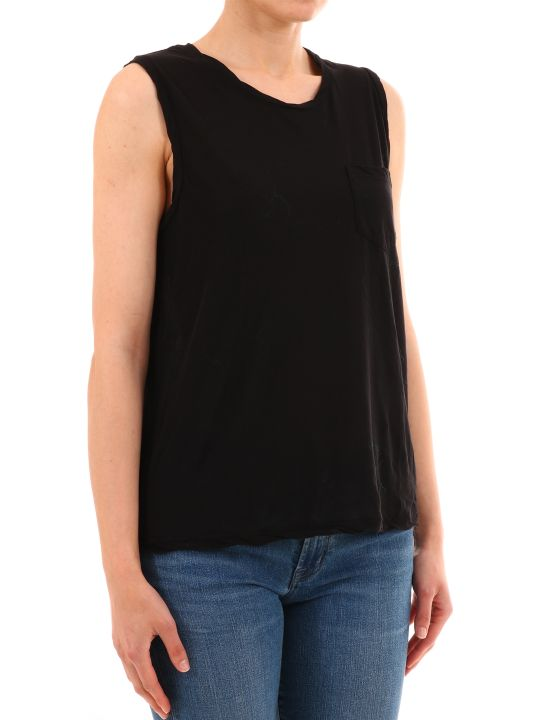 James Perse Black Cotton Top