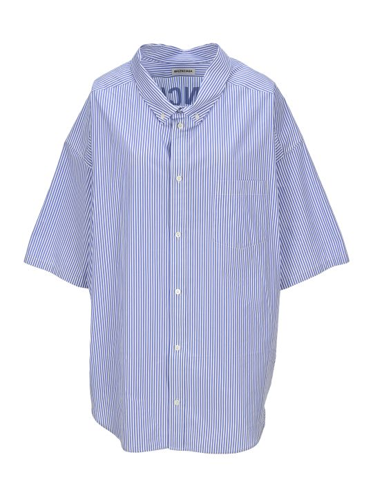 Balenciaga Cocoon Swing Striped Shirt