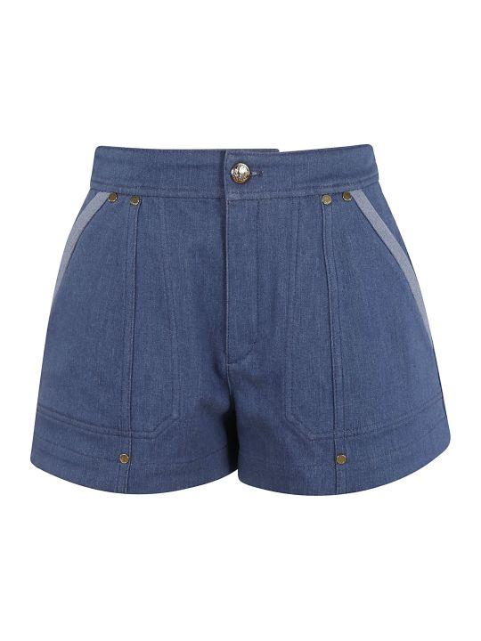 Chloé Rear Logo Patched Shorts