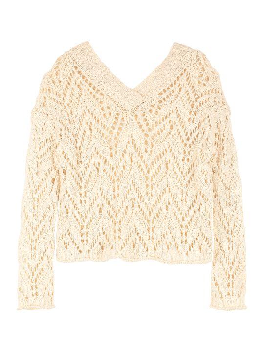 Forte_Forte Openwork-knit Pullover