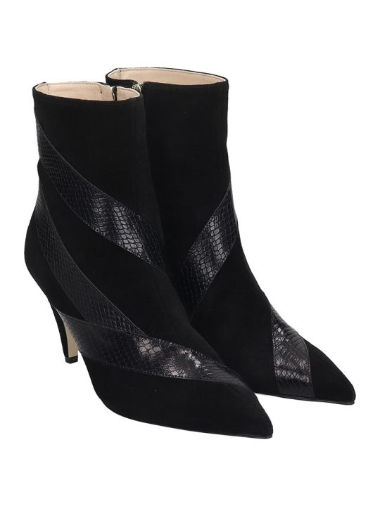 GIA COUTURE High Heels Ankle Boots In Black Suede