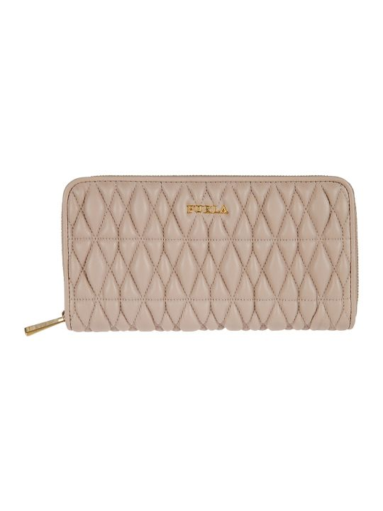 Furla Quilted Zip Around Wallet