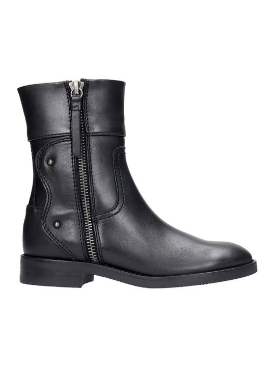 See by Chloé Combat Boots In Black Leather