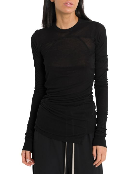 Rick Owens Cropped Long Sleeve T-shirt