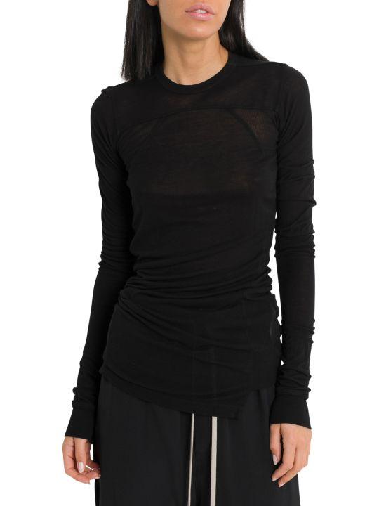 Rick Owens Cropped Long Sleeve T-shirt