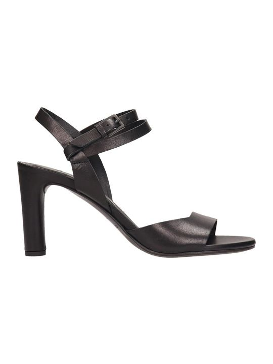 Roberto del Carlo Black Leather Sandals