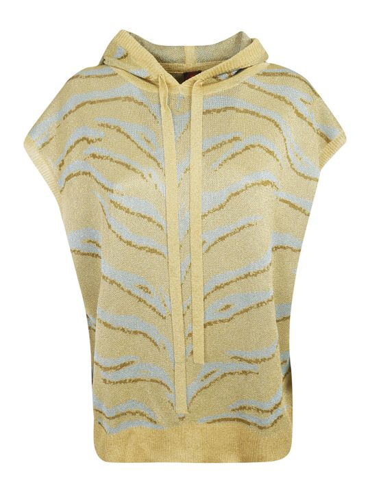 Happy Sheep Animal Print Sleeveless Hoodie
