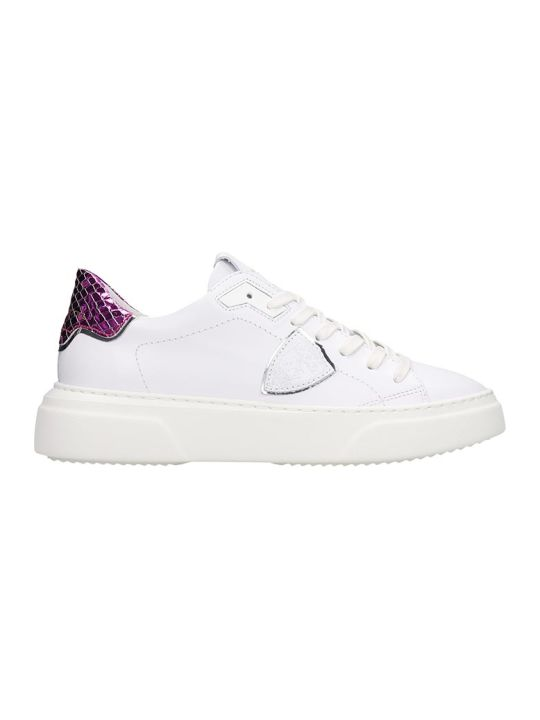 Philippe Model Temple Sneakers In White Leather
