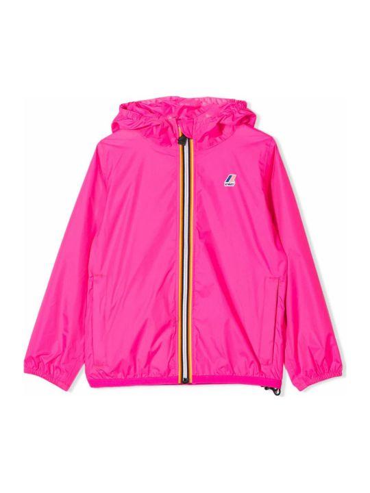 K-Way Fuchsia Hooded Rain Jacket
