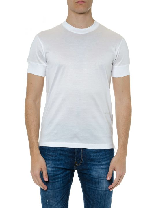 Dsquared2 White Cotton Slim Fit T-shirt