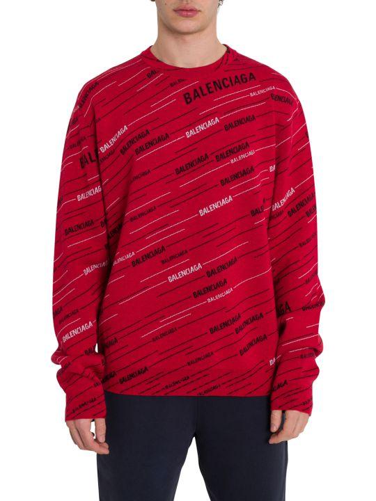 Balenciaga Crewneck Pullover All-over Logo