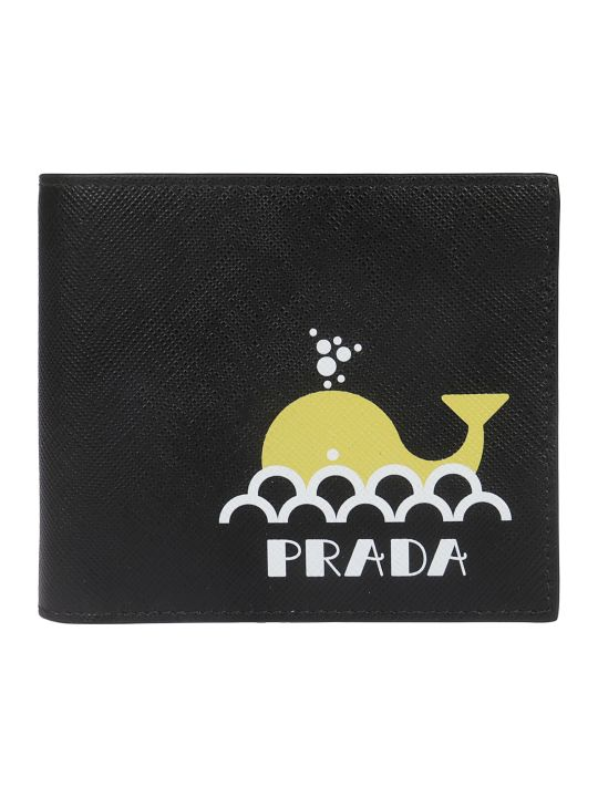 Prada Whale Print Wallet