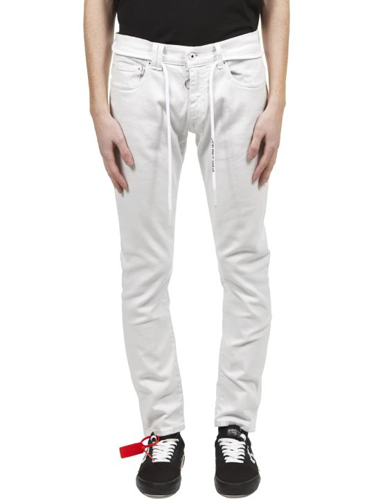 Off-White Tie Detail Jeans