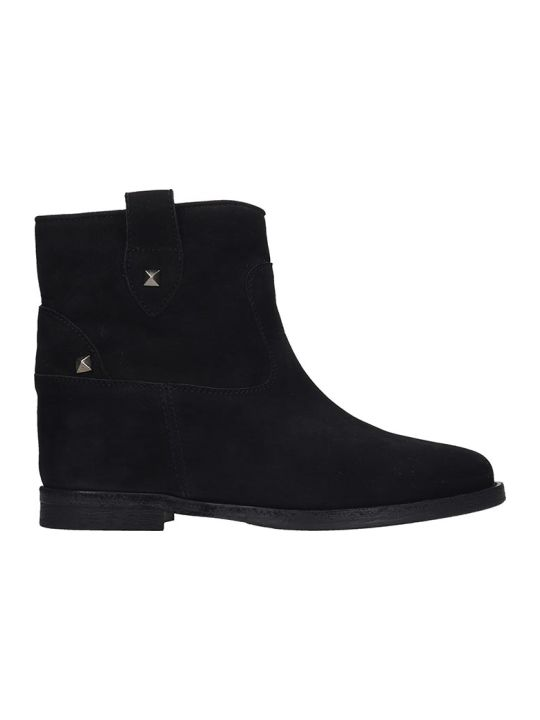Via Roma 15 Ankle Boots In Black Nubuck