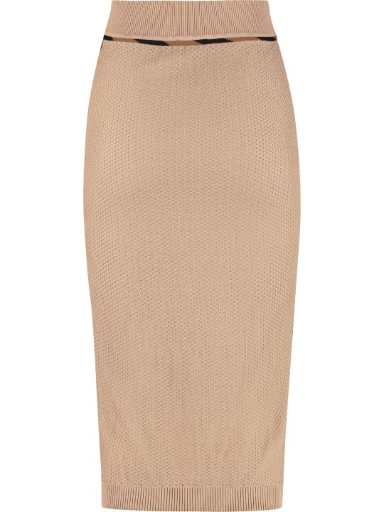 Fendi Open-knit Skirt