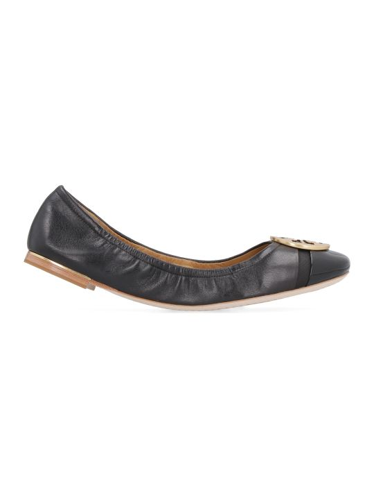 Tory Burch Minnie Leather Ballet Flats