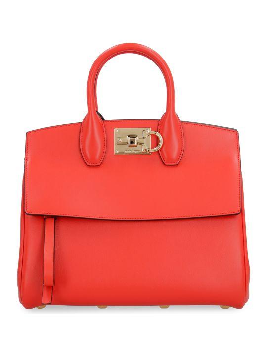 Salvatore Ferragamo Studio Leather Handbag