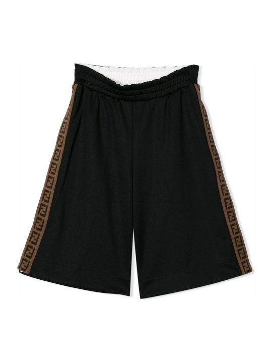 Fendi Black Ff Trim Shorts