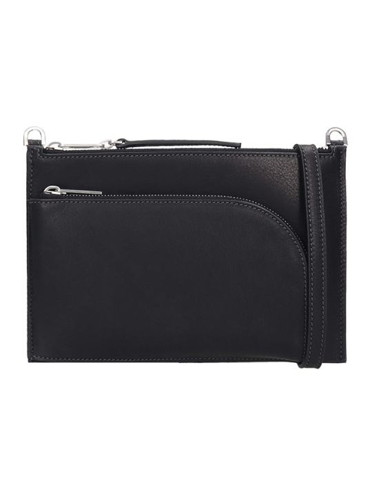 Rick Owens Club Pouch Shoulder Bag In Black Leather
