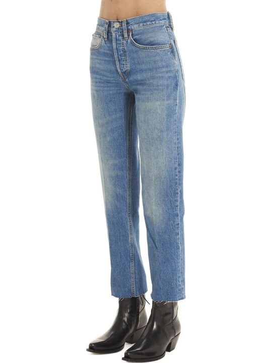 RE/DONE 'high Rise Stove Pipe' Jeans
