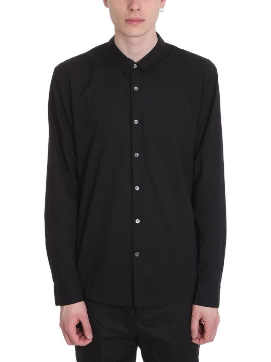 James Perse Standard Black Cotton Shirt