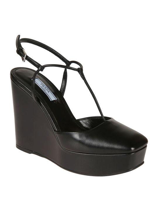 Prada Classic Wedge Sandals