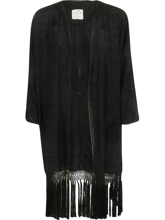 Forte_Forte Forte Forte Embroidered Fringed Cardigan