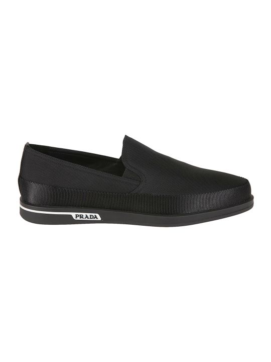 Prada Linea Rossa Side Logo Loafers